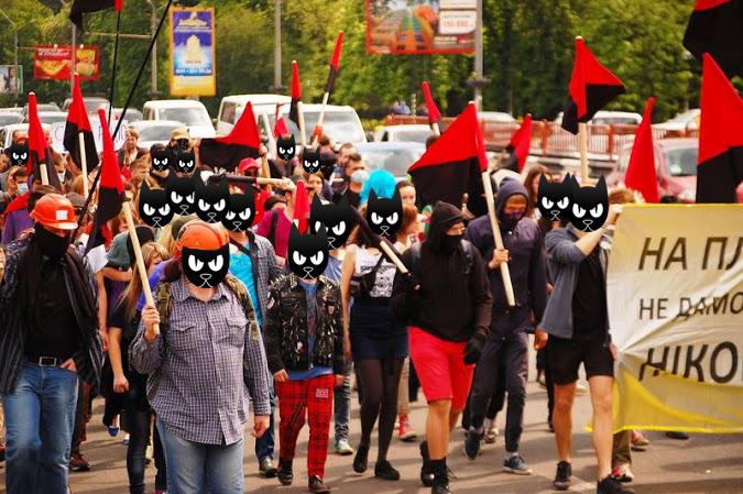 Анархистский Первомай, Киев 2014