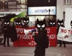 Тепла и воли! Акция харьковских анархистов против актуальных соц. проблем