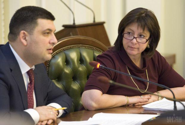 Natalija Jaresko und Wolodymir Hroisman